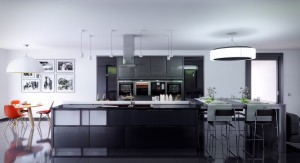 kitchen-glamorous-black-kitchen-countertops-with-fashionable-bartable-and-chairs-also-cute-red-dining-chairs-also-log-table-future-kitchen-technology