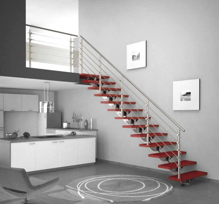 stair-magnificent-home-interior-decoration-using-indoor-red-staircase-including-red-staircase-step-and-round-metal-staircase-handrail-interesting-staircase-handrail-for-your-home-stair-design-ideas
